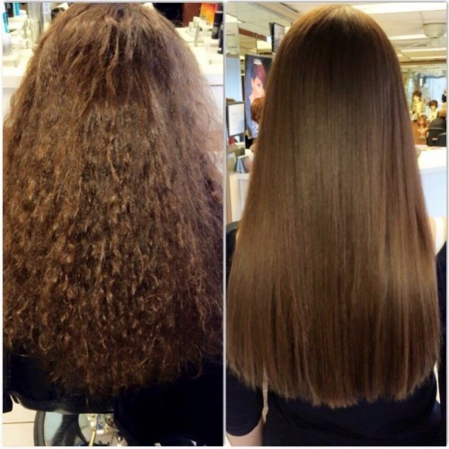 Keratin Hair Straightening from