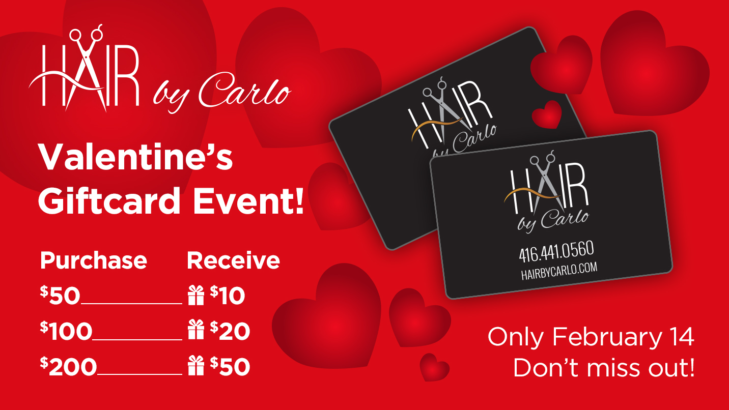 Valentine's Giftcard Event - Only February 14th - Don't MIss Out!